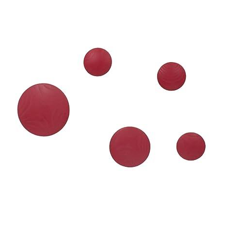 Vaukura Percheros de Pared Dots - Percheros de Madera (Rojo)