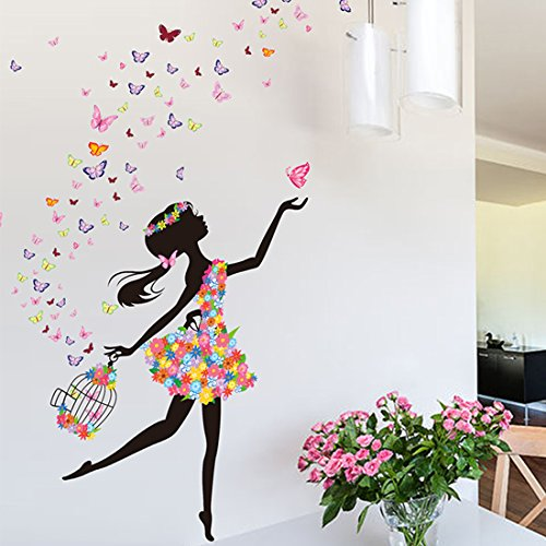 Wall Decor Wall Stickers Flower Fairy PVC Wall Stickers Wall Decals - 2