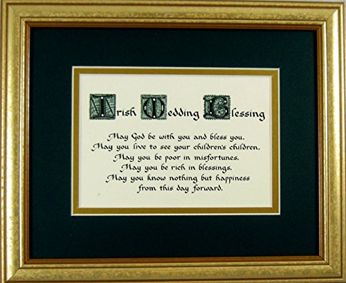 McDarlins Calligraphy Irish Wedding Blessing Home Decor Wall Sign Keepsake Gift Framed Made in the USA