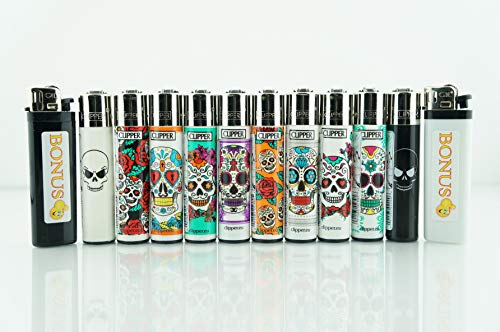 Clipper 10 Refillable Mixed Designs Lighters