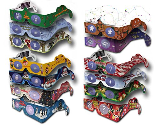 23 Pairs Holiday Eyes (TM) XMAS Glasses - 14 Different Styles - Jingle Bells - Ships - Different Glasses Style