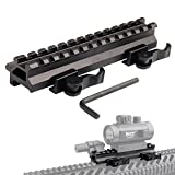 Tactical Picatinny Riser Mount Rails Dual 90 and 45 degree Quick Release Detach 13-Slot Medium Profile for Red Dot Scope Optics