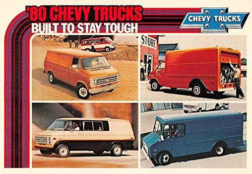Chevrolet 1980's Chevy Trucks Auto Advertising Vintage Postcard JA4741469
