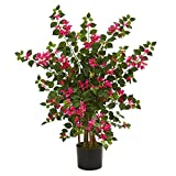 Nearly Natural Bougainvillea Artificial Silk Trees, Pink