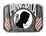Pewter Belt Buckle - POW MIA - Pewter Belt Buckle