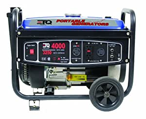 ETQ TG32P12, 3250 Running Watts/4000 Starting Watts, Gas Powered Portable Generator