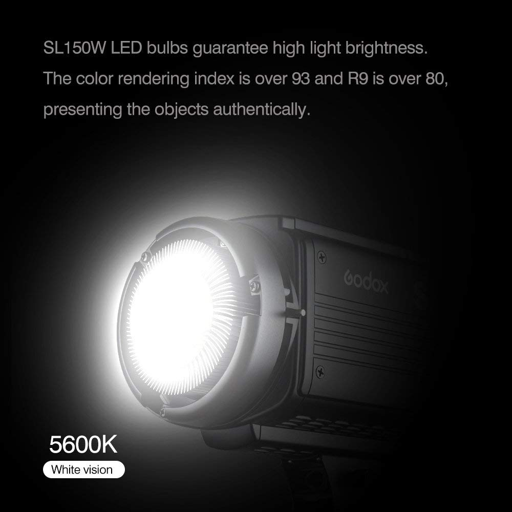 Godox sl-150/W 150/WS 5600/K Bianco versione LCD pannello LED Video Luce Continua Output Bowens Mount Studio Luce + letwing panno, sl-150/W