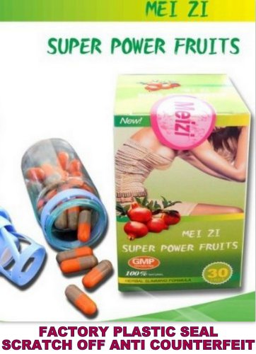 Mei Zi Super Fruits d'alimentation minceur 30 capsules (usine Box Seal Plastic + Scratch Off Code Anti Contrefaçon)
