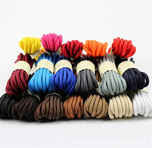 Round Shoelaces for Sneakers, Boots, and Shoes in 20 Colors-3pairs-by Aimto – DiZiSports Store