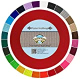 Country Brook Design | Durable 1 Inch Heavy Nylon Webbing | 29 Vibrant Colors (Bright Red, 20 Yards)
