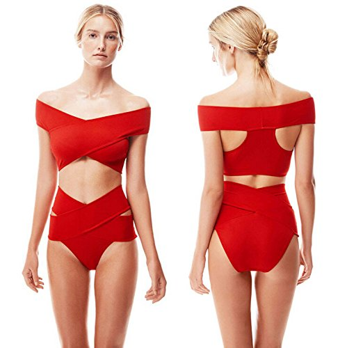 5d168f0f73e0f 2017 Bathing Suit Swimsuit Women Sexy Swimwear Solid Strappy Plus Size  Bikinis Set Bandage Push Up Bikini (XL)