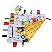 Lovey Wizard Baby Tag Blanket. 14x18 Educational Magical Security Blanket