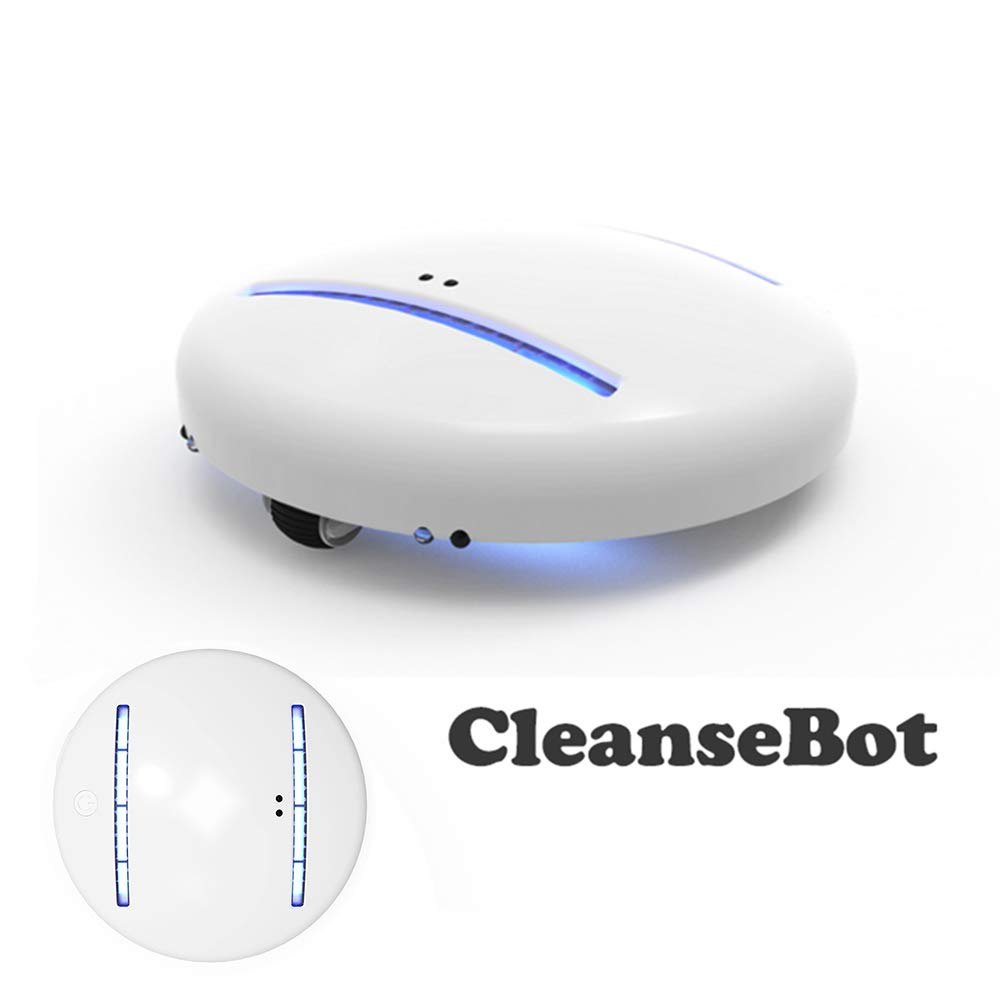 Cleansebot Robert, AI Controller Bacteria Killing Robot, Portable Robot Cleaner Sterilization with UV-C Lights, Suitable for Home, Travel and Hotel Stays