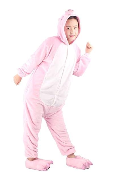 Arkind Pijama Adulto mujer Hombre Niña Niño Adulto Animal Disfraz Cosplay Pijama + babucha Halloween Disfraz