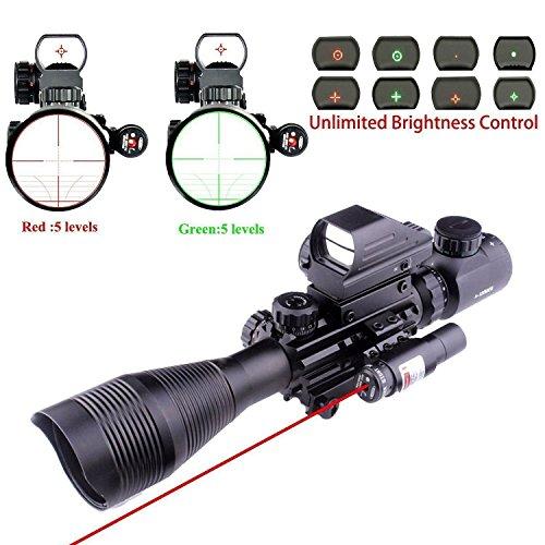 Lovebay 3 in 1 Tactical Rifle Scope 4-12x50EG Dual Illuminat