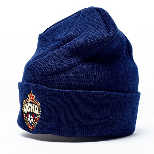 fan products of FC CSKA Moscow knitted cuffed beanie hat , dark blue