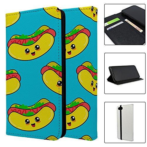 Hot Dog Muster Full Flip Schutzhülle für Apple iPhone 5 dYBza4