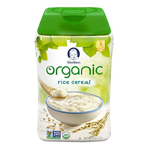 Gerber Baby Cereal Organic Single-Grain Rice, 8 oz