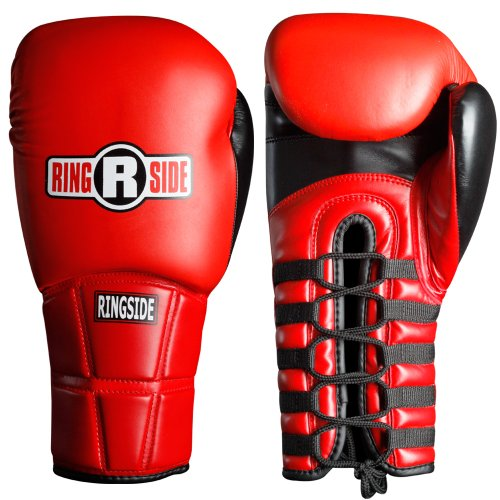 Ringside IMF Pro Fight Gloves, Red, 12-Ounce (Pro Fight Gloves)