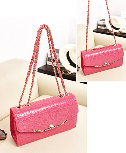 Strap Handbag Purse Crossbody Style Chain Rose Lady's Tonwhar Korean Shoulder Bag PqS1Y