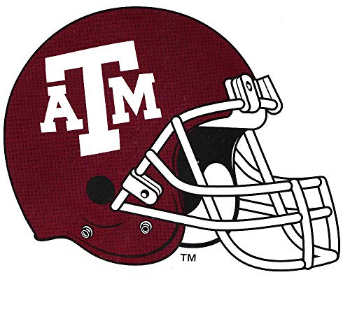 (6 Inch Texas A&M Football Helmet Decal Aggies University TX Removable Wall Sticker Art NCAA Home Room Decor 5 1/2 by 5 Inches)