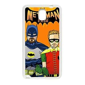 Math Man Batman White Samsung Galaxy Note3 Case