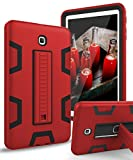 TIANLI Galaxy Tab S2 8.0 inch Cover Case with Heavy Duty Protection TPU and Plastic Full Body Protection with Portable Tablet Kickstand Case for Samsung Galaxy Tab S2 8.0 (T710 T713 T715),Red Black