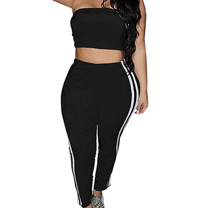 105af3d65ba Liraly Womens Tops Clearance 2018 New Fashion Solid Sleeveless Sexy Velvet  Short Tops Long Pants Womens