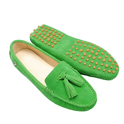 Minitoo In Mocassini Casual Nappe Slip Donna Da Lacci Guida Fruit Scamosciata Con on Pelle Green Ballerine Girsl Scarpe S6rSqxf