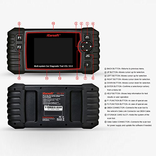 iCarsoft Auto Diagnostic Scanner VOL V2.0 for Volvo/SAAB with ABS Scan,Oil Service Reset ect by iCarsoft (Image #2)
