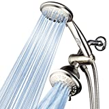 HotelSpa® 42-Setting Ultra-Luxury 3 Way Shower-Head/Handheld Shower Combo with Patented On/Off Pause Switch by Top Brand Manufacturer (Brushed Nickel)