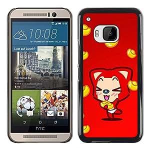 Exotic-Star ( Cute Fox ) Fundas Cover Cubre Hard Case Cover para HTC One M9