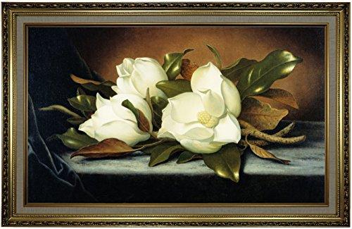 Historic Art Gallery Giant Magnolias by Martin Johnson Heade Framed Canvas Print, 19