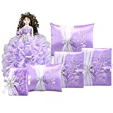 Complete Quinceanera Doll Set with Matching Album Guest Book Pillow Bible Q1044 (Basic set + English bible)