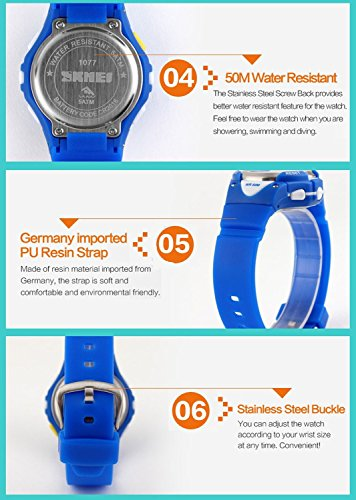Kids-Outdoor-Sports-Childrens-Waterproof-Wrist-Dress-Watch-With-LED-Digital-Alarm-Stopwatch-Lightweight-Silicone-for-Boy-Girl-Blue