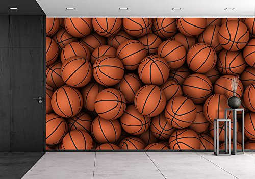 wall26 – Basketball – Removable Wall Mural | Self-adhesive Large Wallpaper – 66×96 inches