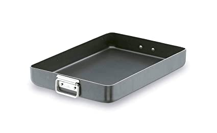 Lacor 23550A - Rustidera Robust con asa Abatible antiadherente, aluminio, 50 x 35 x