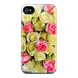 For AlexLeroyDavis Iphone Protective Case, High Quality For Iphone 4/4s Delicate Bouquet Skin Case Cover