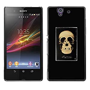 Shell-Star Art & Design plastique dur Coque de protection rigide pour Cas Case pour Sony Xperia Z / L36H / C6602 / C6603 / C6606 / C6616 ( Retro Skull Love Couple Black Poster )