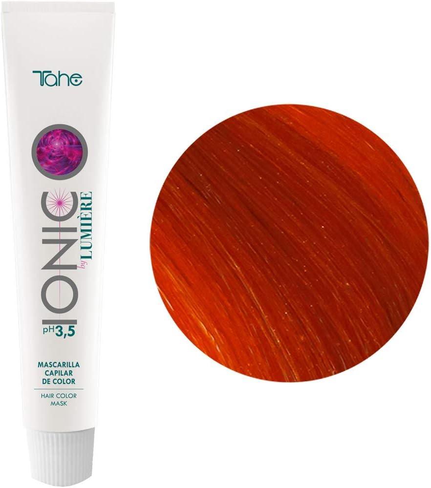 Tahe Ionic Lumière Mascarilla Capilar/Mascarilla de Color de PH de 3,5 Ácido, sin Parebenos. Altamente Nutriente e Hidratante, Cobrizo, 100 ml