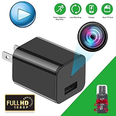Spy Camera - Hidden Camera - Premium Pack - HD 1080P - Motion Detection - USB Hidden Camera - Surveillance Camera - Mini spy Camera - Nanny Camera - Best Spy Camera Charger - Hidden Camera from JuDe