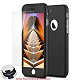 iPhone 7 Case,Lavince Full Body Protection Hard Slim Premium Cover[Dual Layer][Slim Fit] with Tempered Glass Screen Protector for iPhone 7 4.7inch(Black)