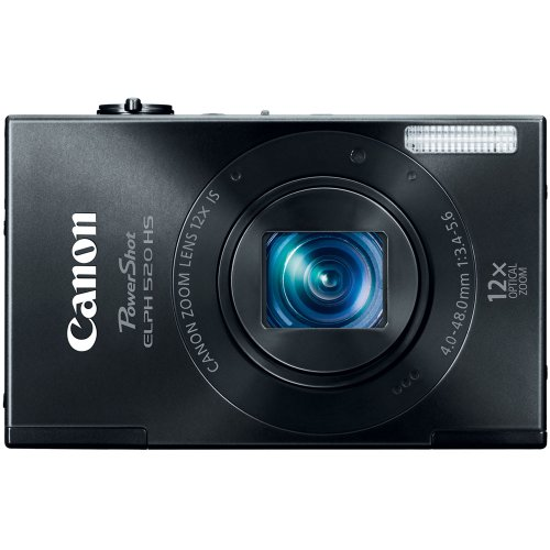 Canon PowerShot ELPH 520 HS 10.1 MP CMOS Digital Camera with 12x Optical Image Stabilized Zoom 28mm Wide-Angle Lens and 1080p Full HD Video Recording (Black) (Discontinued by Manufacturer) ()