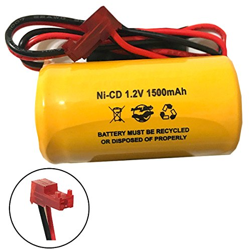(2 Pack) ELB1P201NB Lithonia ELB0320 1.2v 1500mah NiCad Battery Pack Replacement Exit Sign Emergency Light ELB1P201N2 ELB1P2901N ELB1210N ELB1P201N ELB-1P201NB by Batteryhawk, LLC (Image #2)