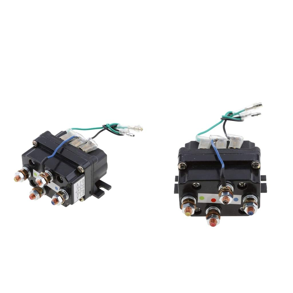 2-Pack 12V Solenoid Relay Contactor Winch Rocker Switch Thumb Truck by D-Modern
