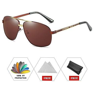 ATNKE Retro Aviator Polarized lunettes de soleil pour hommes Femmes UV400  Protection Oversize Driving Cycling Designer 52c9936eca5c