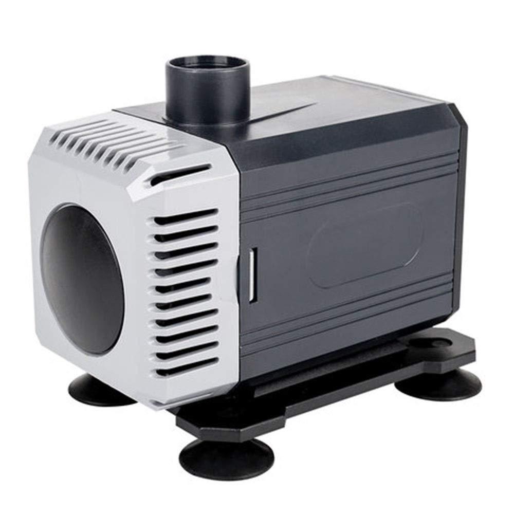LIFUREN Pompa di Ossigeno per Acquario Pompa Sommergibile Pompa Dell'acquario Silenziosa Pompa Anfibia Domestico (colore   Nero, Dimensioni   40W)