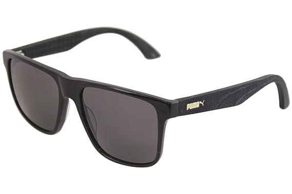 Puma PU0104S 001 Gafas de Sol, Negro (Black/Smoke), 54 para ...