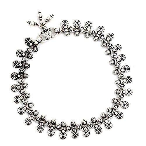 Bracelet Spiral Sterling Silver (NOVICA .925 Sterling Silver Spiral Motif Charm Anklet, 9.75