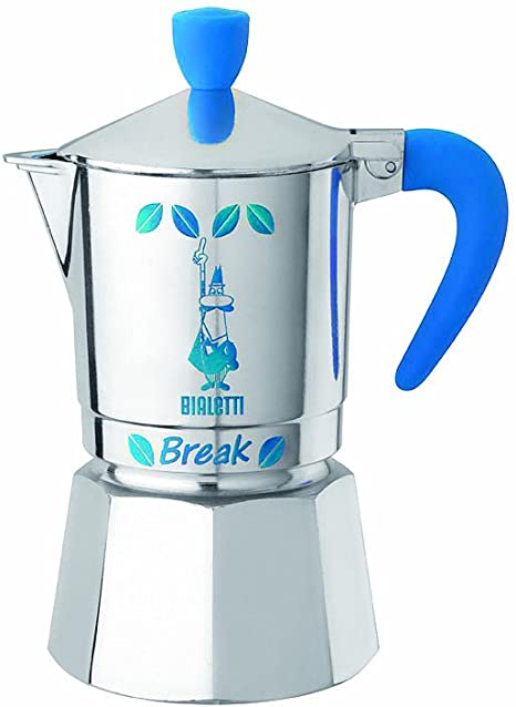 Bialetti Break - Cafetera italiana (3 tazas), color azul: Amazon ...